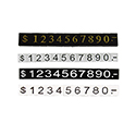 Pricing Numerals - Classic - 3mm - White on Black