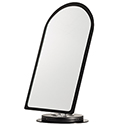Black Acrylic Countertop Mirror with Swivel Base