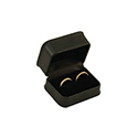Double Ring Box - Deluxe Textured Jewelry Gift Boxes (12 pack)