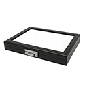 "Glass Top Gem Display Box - Black - 8 1/2"" x 11"""