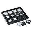 Deluxe Self-Locking Gem Display Box - Black - Medium
