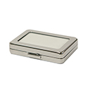 Deluxe Self-Locking Gem Display Box - Chrome - Large