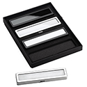 Deluxe Self-Locking Bracelet Display Box - Silver