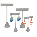 Gray Linen T Bar Earring Displays