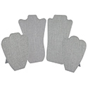 Gray Linen Curved Easel Pad Neckforms