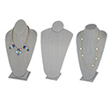 Tall Gray Linen Neckforms