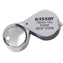 Kassoy 10x Hastings Triplet Loupe - Chrome