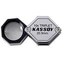 Kassoy 10x Hexagonal Triplet Loupe - Chrome