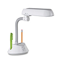 OttLite Flex-Neck Lamp - White & Gray