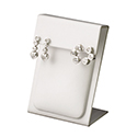 Earring Display - White Leatherette