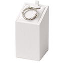 Earring/Pendant Display - White Leatherette
