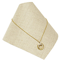 Necklace Cone - Natural Linen