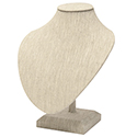 Neck Bust on Stand - Natural Linen