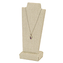 Tall Necklace Stand - Natural Linen