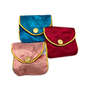 "Pastel Chinese Jewelry Pouches - 2 1/2"" x 2"""