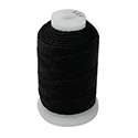 Black Silk Bead Spool - Size E, 200 Yards