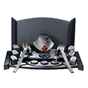 19 Piece Display Set with Backdrop - Steel Gray