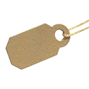Plastic String Jewelry Tags - Gold