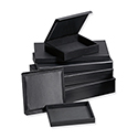 Leatherette Jewelry Tray with Magnetic Cover