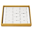 Hardwood Stackable Tray - 15 Pairs Earring Pads