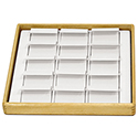 Hardwood Stackable Tray - 15 Pairs Earring Flaps