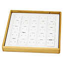 Hardwood Stackable Tray - 25 Pairs Earring Stud Pads