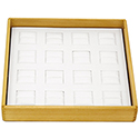Hardwood Stackable Tray - 16 Ring Slots