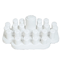 24 Ring Display Set - White Leatherette