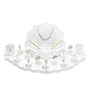 24 Piece Display Set - White Leatherette